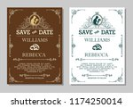luxurious wedding invitation ... | Shutterstock .eps vector #1174250014