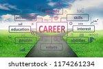 business concept. career... | Shutterstock . vector #1174261234