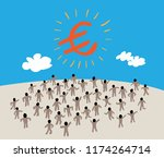 business people message talking ... | Shutterstock .eps vector #1174264714