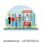 fast food at park | Shutterstock .eps vector #1174270111
