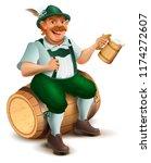 beer festival oktoberfest. man...   Shutterstock . vector #1174272607