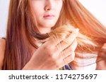 closeup portrait of female...   Shutterstock . vector #1174275697
