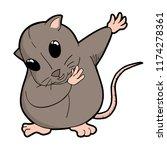 funny rat illustration | Shutterstock .eps vector #1174278361
