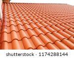 closeup of new red color clay... | Shutterstock . vector #1174288144
