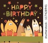 illustration for happy birthday ... | Shutterstock . vector #117428941