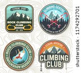 set of rock climbing club... | Shutterstock .eps vector #1174292701