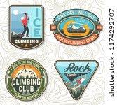set of rock climbing club... | Shutterstock .eps vector #1174292707