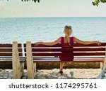 girls  blonde are sitting on a... | Shutterstock . vector #1174295761