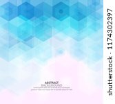 geometric hexagons  abstracts ... | Shutterstock .eps vector #1174302397