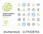 green energy   ecology vector... | Shutterstock .eps vector #1174328701