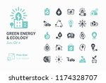 green energy   ecology vector... | Shutterstock .eps vector #1174328707