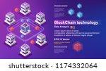 blockchain technology  concept... | Shutterstock .eps vector #1174332064