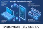 blockchain technology  concept... | Shutterstock .eps vector #1174333477