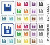 file options color flat icons... | Shutterstock .eps vector #1174352377