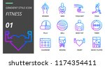 gradient style icon pack for... | Shutterstock .eps vector #1174354411
