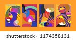 vector abstract colorful...   Shutterstock .eps vector #1174358131