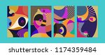 vector abstract colorful... | Shutterstock .eps vector #1174359484