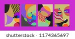 vector abstract colorful...   Shutterstock .eps vector #1174365697