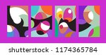 vector abstract colorful... | Shutterstock .eps vector #1174365784