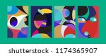 vector abstract colorful...   Shutterstock .eps vector #1174365907