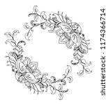 floral ornament in the style of ...   Shutterstock .eps vector #1174366714