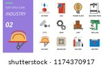solid style icon pack for... | Shutterstock .eps vector #1174370917
