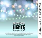 light background with bokeh... | Shutterstock .eps vector #1174388704