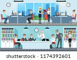 business people working in... | Shutterstock .eps vector #1174392601