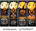 four type halloween party... | Shutterstock .eps vector #1174398247