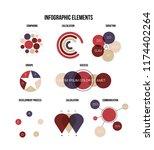infographic elements  creative... | Shutterstock .eps vector #1174402264