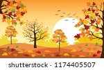 panoramic of countryside... | Shutterstock .eps vector #1174405507