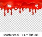 seamless dripping blood.... | Shutterstock .eps vector #1174405801