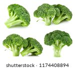 raw broccoli collection... | Shutterstock . vector #1174408894