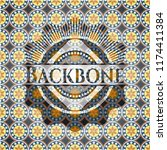 backbone arabesque emblem.... | Shutterstock .eps vector #1174411384