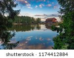 mummelsee at dawn  black forest ... | Shutterstock . vector #1174412884