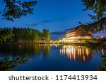 mummelsee at night  black... | Shutterstock . vector #1174413934