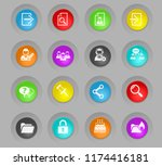 forum interface colored plastic ... | Shutterstock .eps vector #1174416181