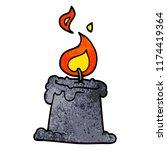 cartoon doodle lit candle | Shutterstock .eps vector #1174419364