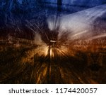 abstract shining shiny lights... | Shutterstock . vector #1174420057