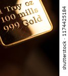 fine solid gold 999.9 one ounce ... | Shutterstock . vector #1174425184