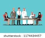 business people having board... | Shutterstock .eps vector #1174434457