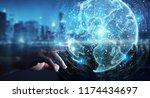 businessman on blurred... | Shutterstock . vector #1174434697