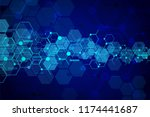 abstract medical background and ... | Shutterstock .eps vector #1174441687