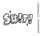 line drawing cartoon swear word   Shutterstock .eps vector #1174444357