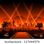 hollywood movie red carpet | Shutterstock .eps vector #117444574