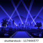 hollywood movie red carpet | Shutterstock .eps vector #117444577