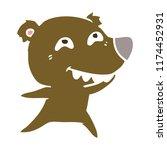 flat color style cartoon bear...   Shutterstock .eps vector #1174452931