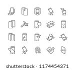 simple set of smartphone... | Shutterstock .eps vector #1174454371