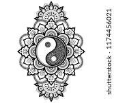 circular pattern in form of... | Shutterstock .eps vector #1174456021