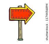 cartoon doodle lit up sign | Shutterstock .eps vector #1174456894